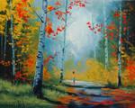Autumn Landscape With Figure
