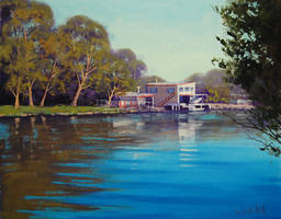 Budgewoi Creek Painting by artsaus