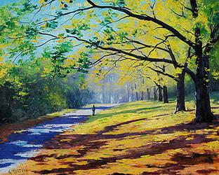 Autumn trees by artsaus
