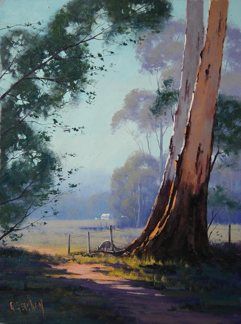 Kangaroo Grazing Landscape by artsaus