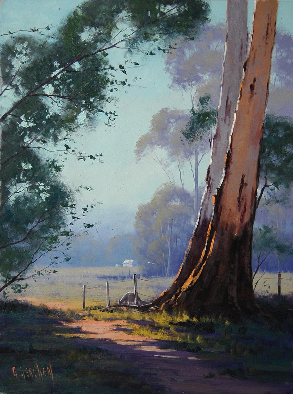 Kangaroo Grazing Landscape