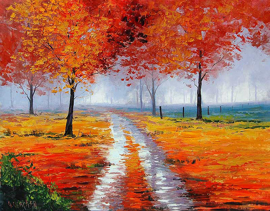 Colors of autumn by artsaus on deviantart for Autumn tree painting