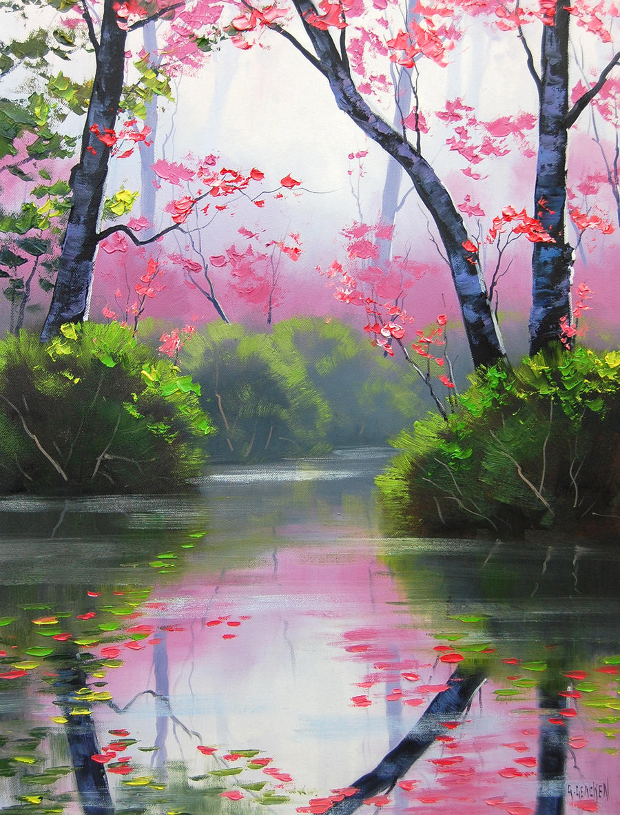 Placid Stream by artsaus
