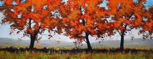 landscape trees by artsaus