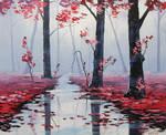 Misty pink Woodland