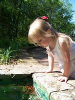 Girl in Garden Stock 3 by Fully-Stocked