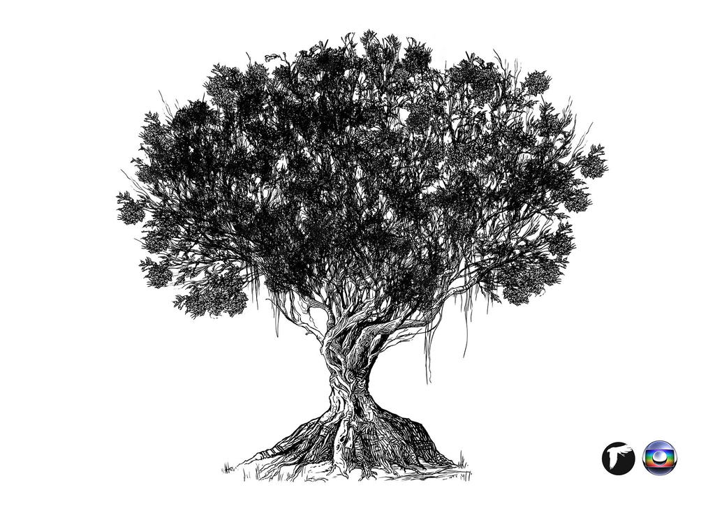 Tree of life Concept Art - Black and White Version by ...