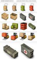 Container Icon Set by a2591