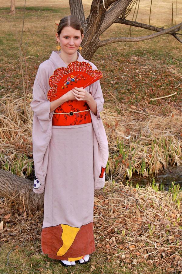 Desert Dream Kimono Front by wingedlight