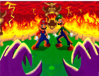 Mario and Luigi: Final Battle by Vudujin