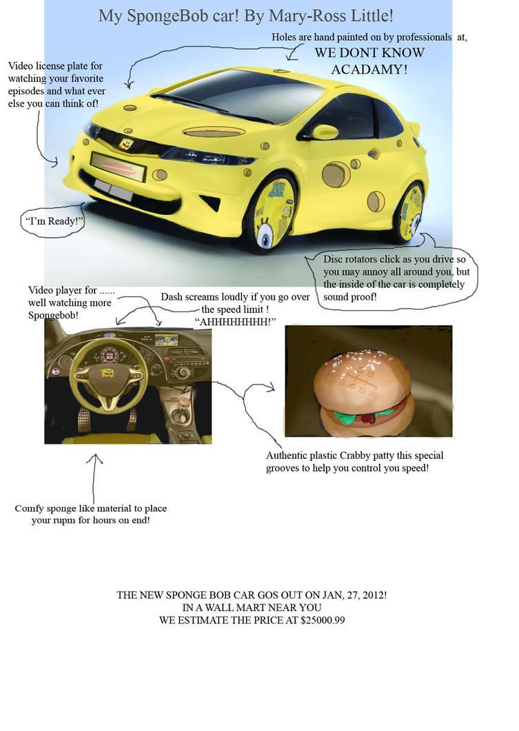 The all new   Spongebob Car by Mini-Twizz-Show on DeviantArt