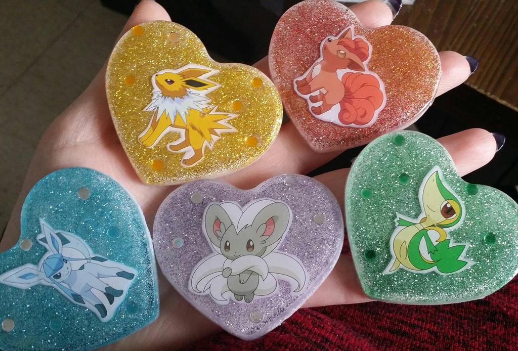 Resin Pokemon pieces.  by Livingdeadgirl30