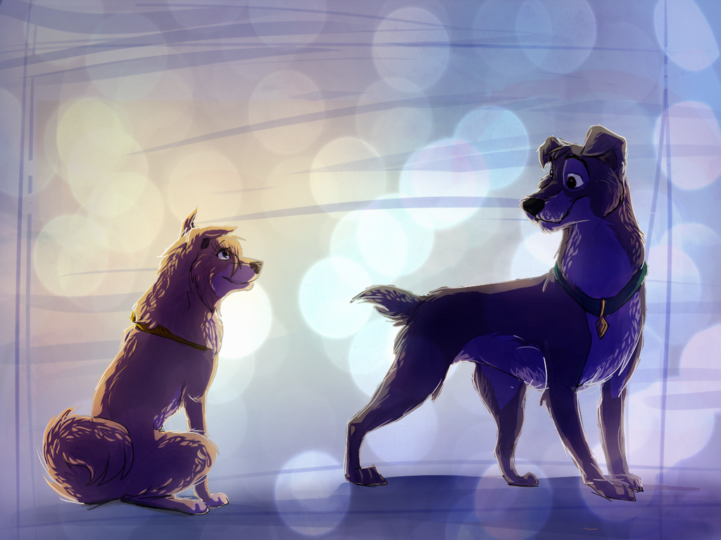 Scamp and Angel by WierkaKita