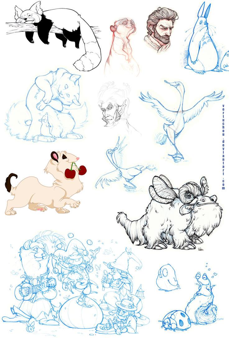 Sketches 3 by Vertuchou