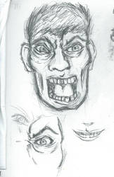 Angry Scream sketch
