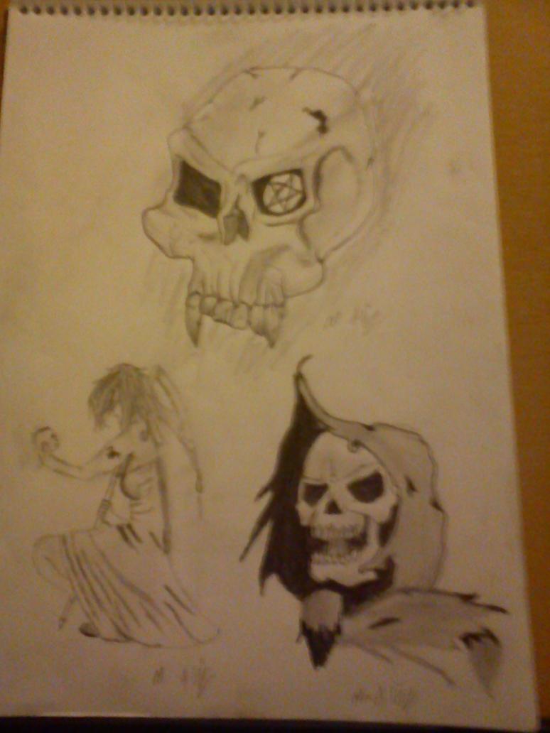skull themed tattoo designs by antichrist10 on deviantart. Black Bedroom Furniture Sets. Home Design Ideas