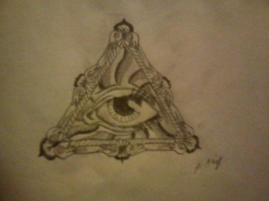 all seeing eye tattoo design by antichrist10 on deviantart. Black Bedroom Furniture Sets. Home Design Ideas