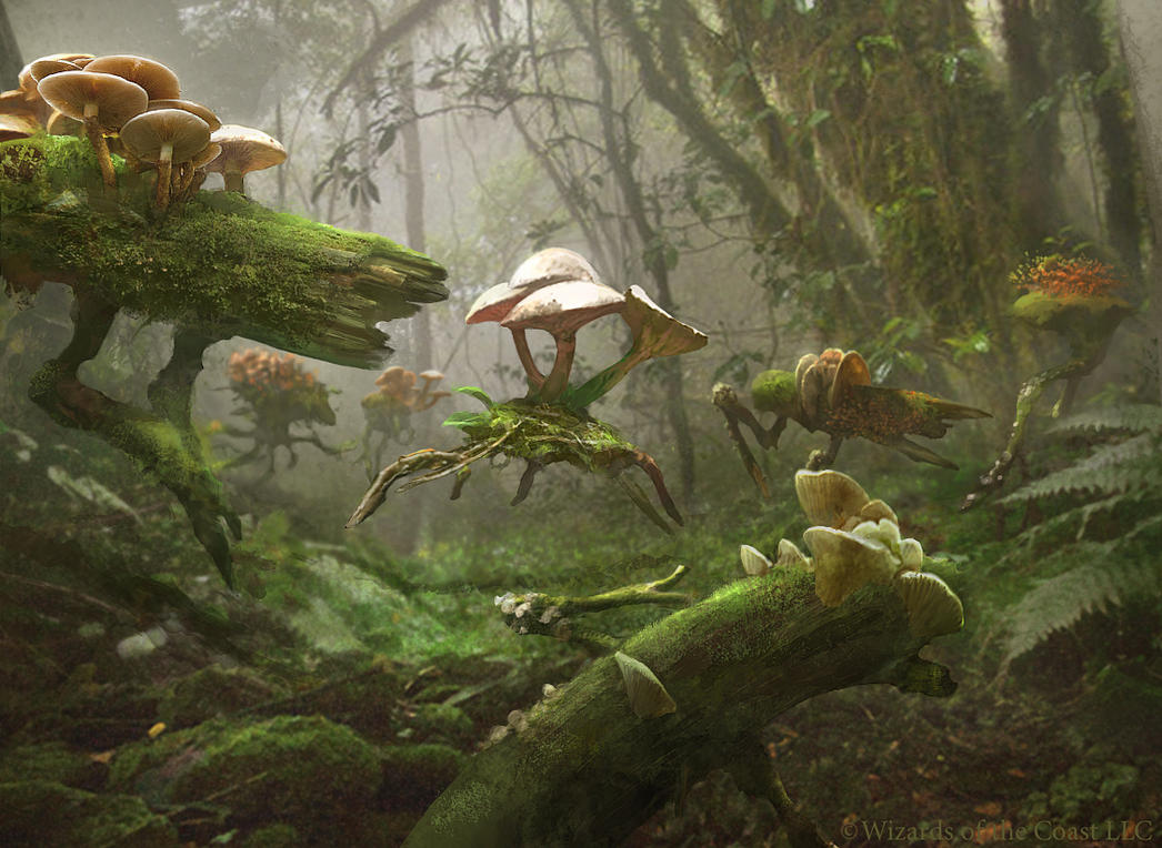 Magic The Gathering: Fungal Sprouting by Cryptcrawler