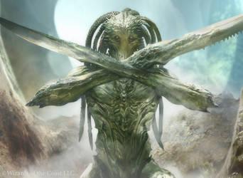 Magic the Gathering 2014: Bonescythe Sliver by Cryptcrawler