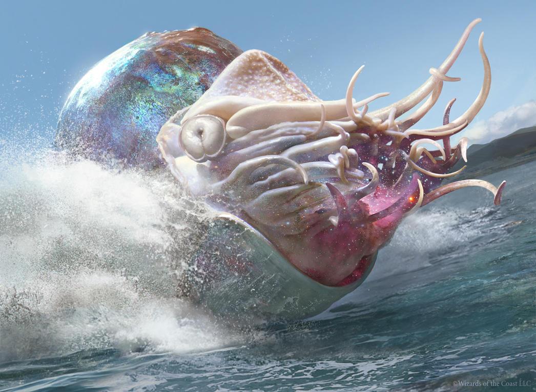 Magic The Gathering: Crystalline Nautilus by Cryptcrawler