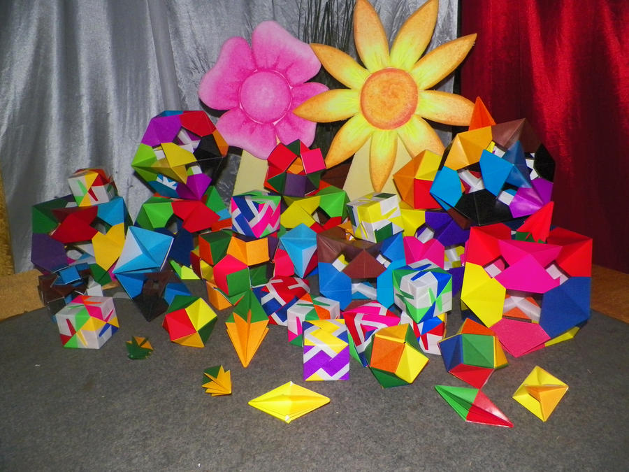 Modulars Origamies Stage Decoration By Pocongrider