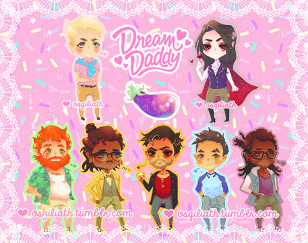 Dream Daddy Charms by Oh-My-Deer