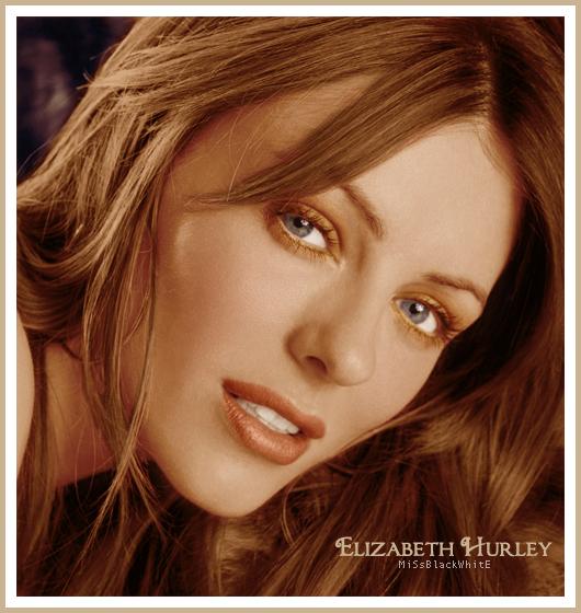 Hurley Wallpaper: Colorize Elizabeth Hurley By MissBlackWhite On DeviantArt