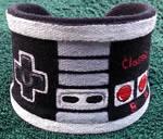 NES Themed Hand Painted Custom Wrist Cuff
