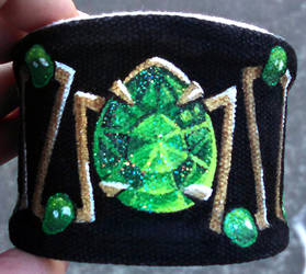 Hand Painted Wrist Cuff Bracelet Gem Themed by Ceil