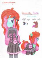 Blackitty Bella OC by momo-malt-gern
