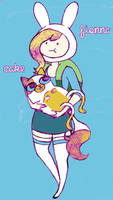 Fionna and Cake Colored by gabzillahz