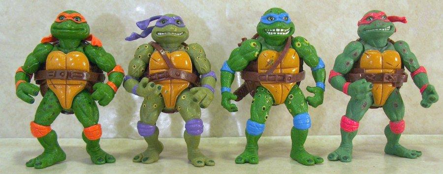 Original 1990 Teenage Mutant Ninja Turtles Movie Figures