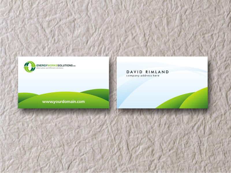 Green business card by bluepitox on deviantart for Sustainable business cards
