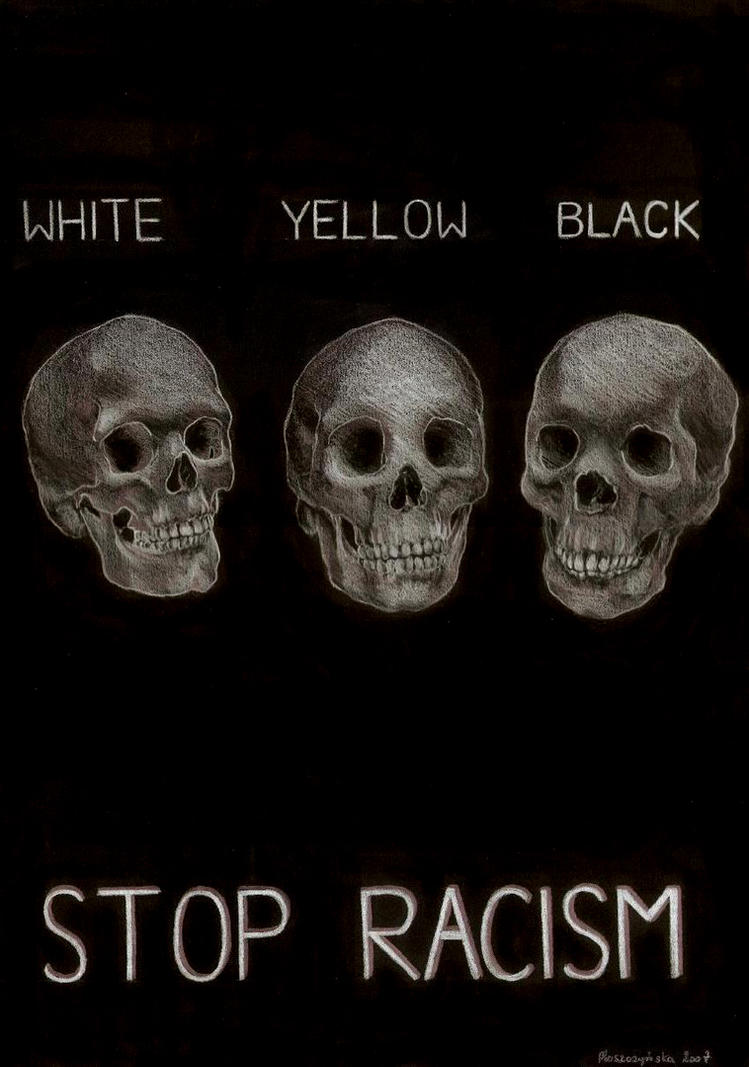 Drawing Lines Against Racism And Fascism : Stop racism by pourin on deviantart