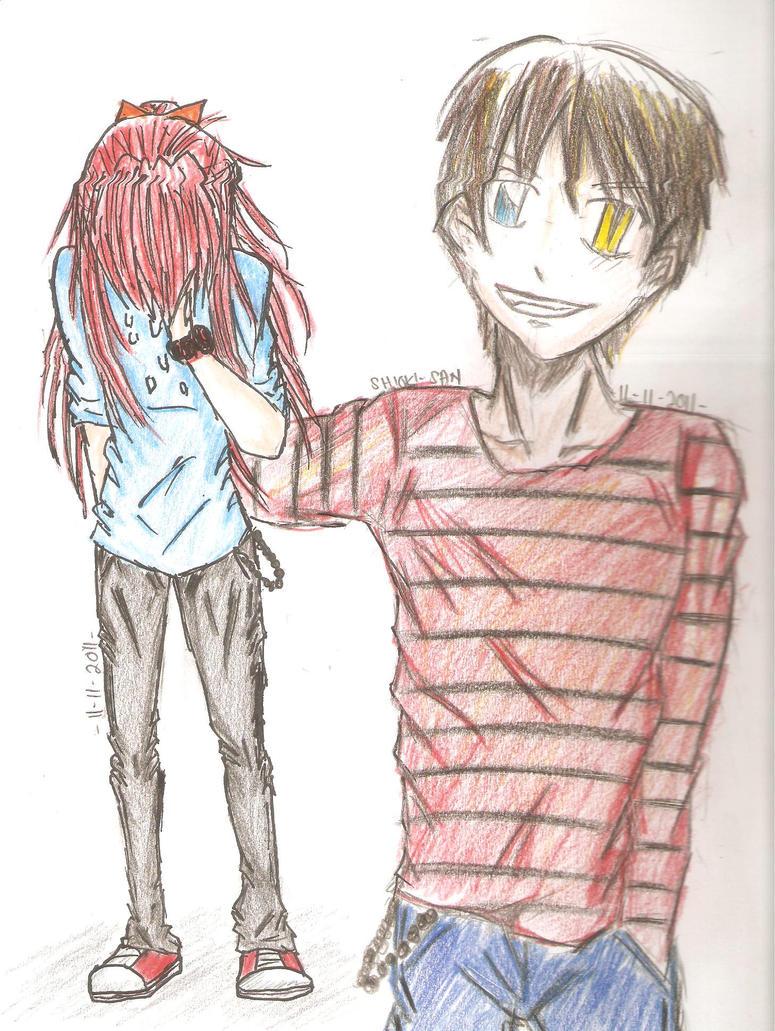 Sad Boy And Girl Anime