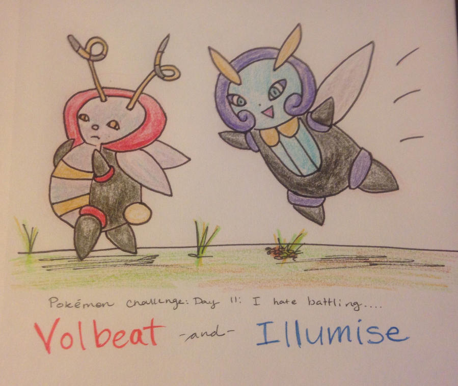 Pokemon Challenge Day 11 - Volbeat and Illumise by