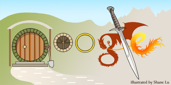 Hobbit google doodle design by Norloth