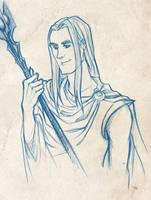 Curunir in Valinor by Norloth