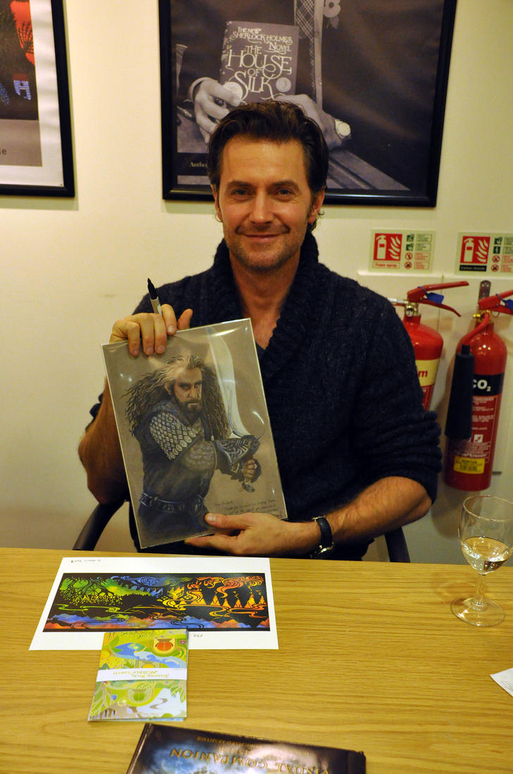 Mr. Richard Armitage with my art by Norloth