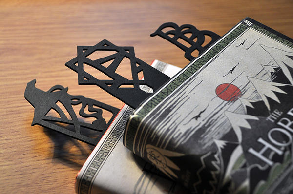 The Hobbit inspired bookmarks by vigshane