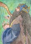 Thorin Playing Harp