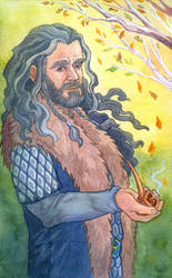 Thorin under Autumn Trees by Norloth