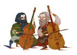 Dwalin and Balin playing viols