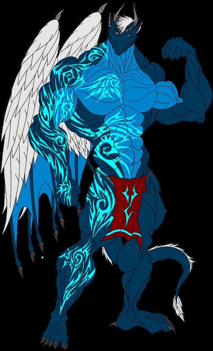 Alex. Eko Draconian Body with Tattoos by ElsewhereWorld