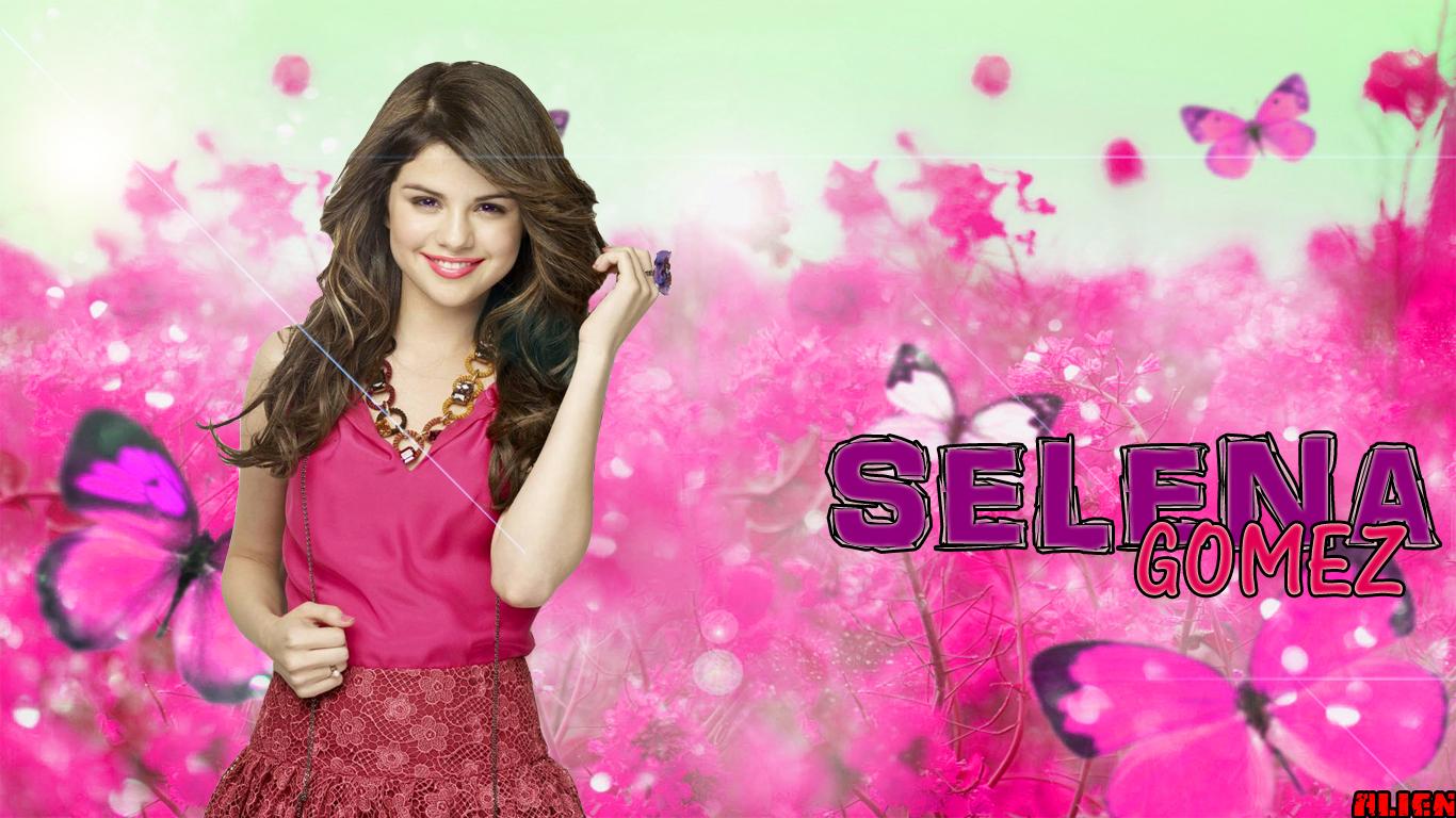 Selena Gomez Wallpaper Pink Wallpaper Gallery