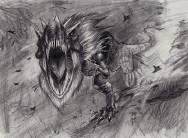 Tyrantrum by SquirrlMongr