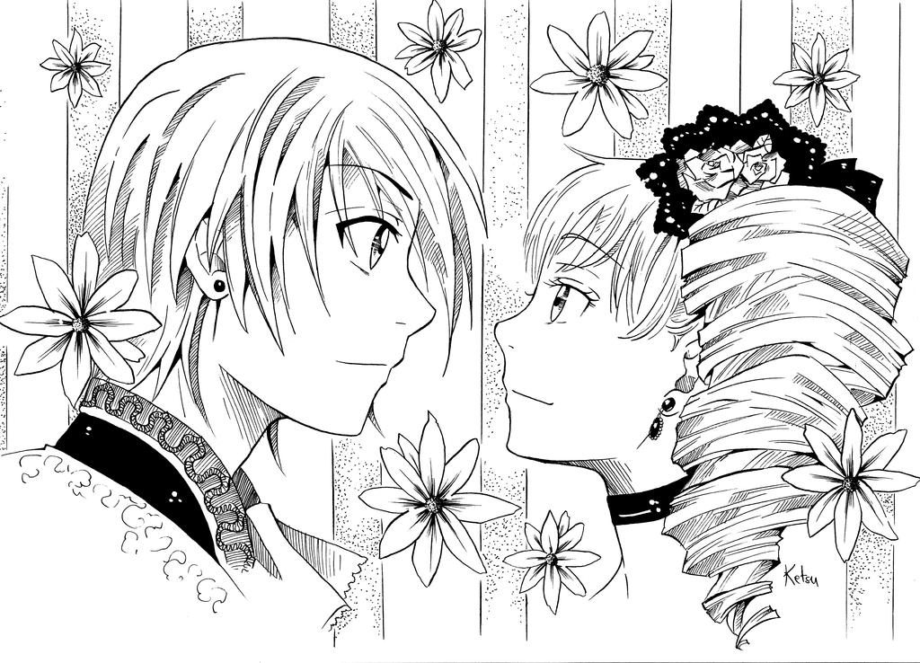 Ciel and Lizzy by Ketsu000