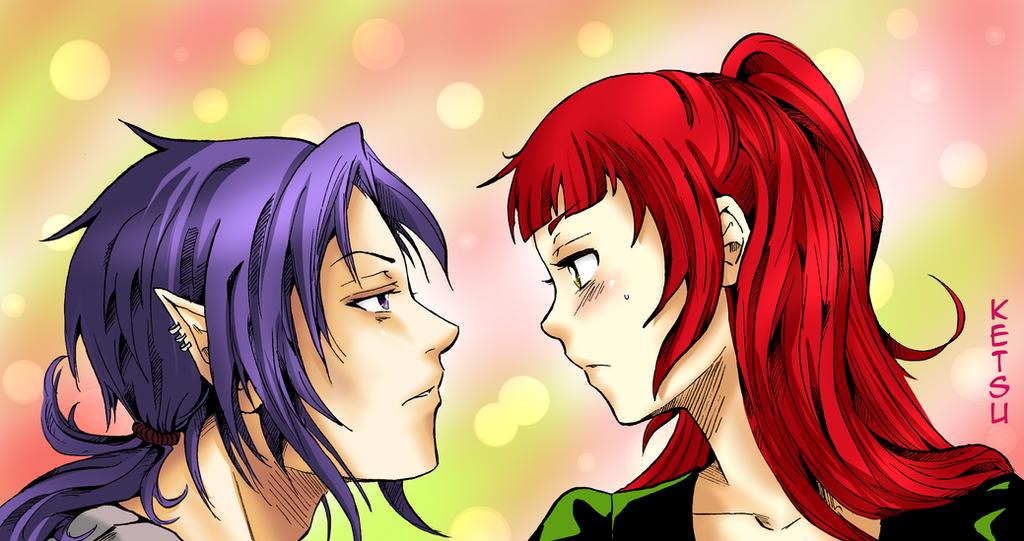Astaroth and Tsuki by Ketsu000