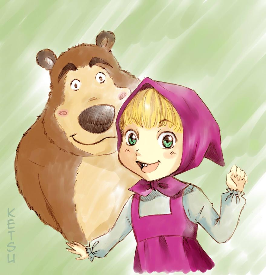 Masha and Bear by Ketsu000