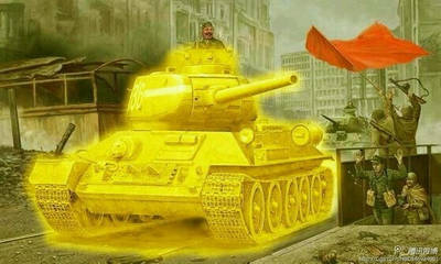 a serb on a golden T-34/85 by caoyeboby